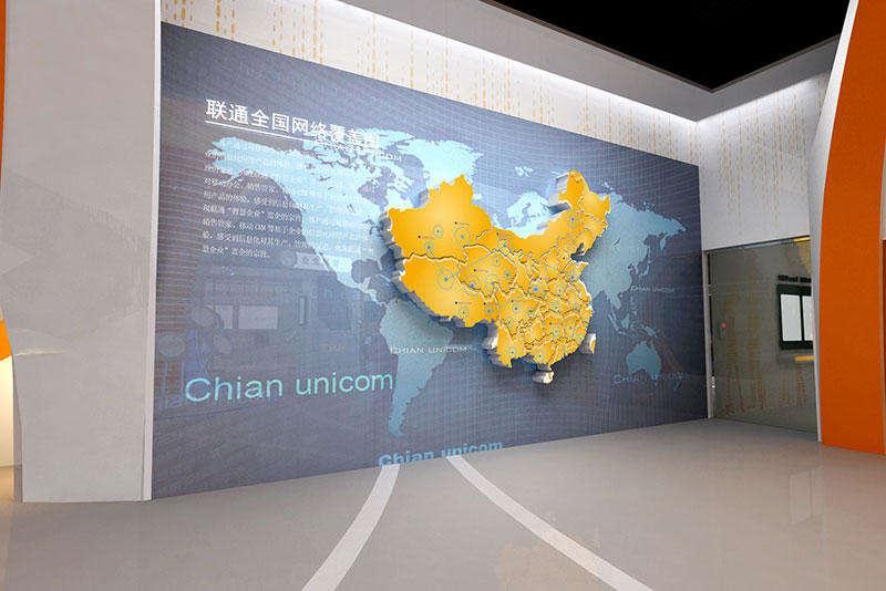 山东枣庄联通体验馆展厅设计
