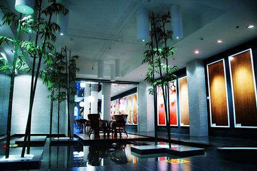 地板企业展厅设计效果图欣赏图片