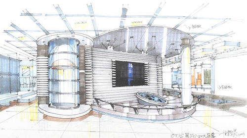 马克笔手绘效果展厅设计欣赏-北京亮视线