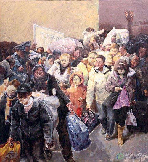 《中国梦·我的家乡》油画名家邀请展在晋城美术馆展厅展出