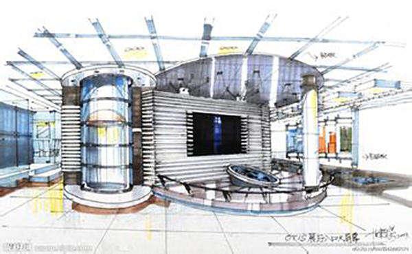 展示空间手绘效果图空间展示设计手绘效果图展示