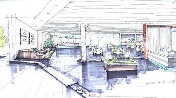 手绘展厅设计效果图欣赏-北京亮视线
